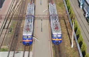 Одесская железная дорога показала свои локомотивы (ВИДЕО)