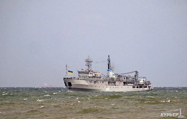 У берегов Одесской области терпело аварию вспомогательное судно ВМС